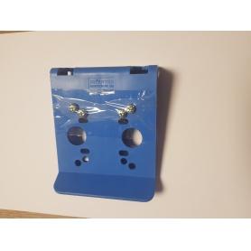 Modrý plastový držák